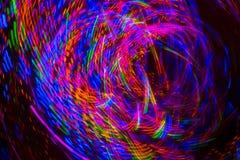 O sumário colorido ilumina o borrão de movimento fotos de stock