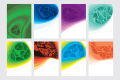 O sumário coloriu o molde moderno para o calendário, folhetos, cartaz Foto de Stock Royalty Free
