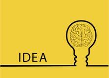 O sumário criativo da ideia da ampola, disposição dos trabalhos do molde do projeto moderno do conceito da inspiração, diagrama,  Fotografia de Stock Royalty Free