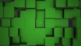 O sumário cuba o movimento aleatório do fundo, animação de 3d Loopable Fundo abstrato das caixas de cor Dar laços sem emenda ilustração royalty free