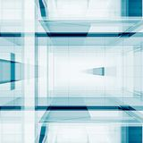 O sumário cuba a rendição 3D Fotografia de Stock Royalty Free