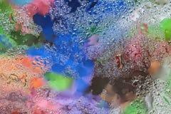 O sumário em cores brilhantes projeta o elemento com reflexão clara real para a bandeira, cópia, molde, Web, decoração moderno Fotos de Stock Royalty Free