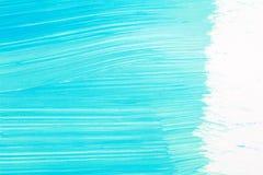 O sumário escovou o fundo acrílico pintado à mão ciano ilustração stock