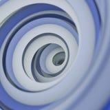 O sumário espiral torcido 3D da forma rende com DOF Imagens de Stock