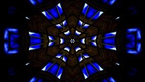O sumário explode do teste padrão simétrico liso do conceito da propagação o movimento decorativo decorativo do caleidoscópio geo filme