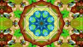 O sumário explode do teste padrão simétrico liso do conceito da propagação o movimento decorativo decorativo do caleidoscópio geo vídeos de arquivo