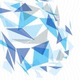 O sumário geométrico 3D do vetor complicou o contexto da arte op, ilustração conceptual da tecnologia eps10, melhor para a Web e  Imagens de Stock Royalty Free