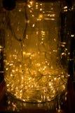 O sumário ilumina o fundo Iluminação do diodo emissor de luz, festão coloridos, Ne Fotografia de Stock Royalty Free