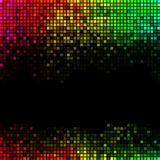 O sumário ilumina o fundo do disco Mosaico quadrado multicolorido do pixel Foto de Stock Royalty Free