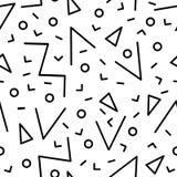 O sumário infinito do teste padrão sem emenda universal de memphis 80-90 textures a ilustração geométrica do vetor do fundo do or ilustração stock