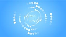 O sumário pontilhado circunda a animação video ilustração stock
