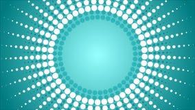 O sumário pontilhado irradia a animação video ilustração stock
