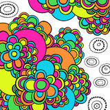 O sumário psicadélico Groovy Doodles o vetor Fotografia de Stock Royalty Free