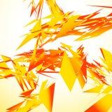 O sumário quebrou a arte digital com os estilhaços nervosos aleatórios Digitas ilustração royalty free