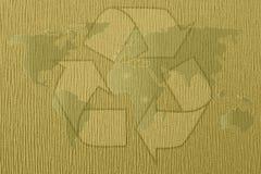 O sumário recicla o mapa do mundo Foto de Stock Royalty Free