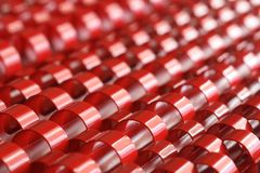 O sumário retrata o plástico vermelho Fotografia de Stock