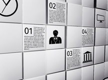 O sumário cuba elementos infographic do projeto Imagens de Stock