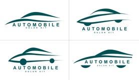 O sumário dá forma ao ícone do logotipo para o carro ou o automóvel Fotos de Stock Royalty Free