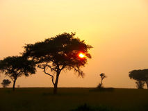 O Sun escondido Imagem de Stock Royalty Free