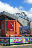 O suporte £114 milhão novo do clube do futebol de Liverpool que aproxima a conclusão Imagens de Stock