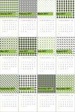O sushi e o cinza fuscous coloriram o calendário geométrico 2016 dos testes padrões ilustração stock