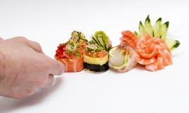 O sushi prepara-se Imagens de Stock