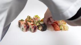 O sushi prepara-se Imagem de Stock