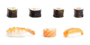 O sushi remenda a coleção fotografia de stock royalty free