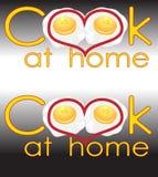 O título da arte para o livro das receitas cozinha em casa o logotipo do negócio Fotografia de Stock