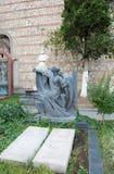 O túmulo da atriz Veriko Anjaparidze e do realizador de cinema, ator Mikhail Chiaureli Imagem de Stock Royalty Free