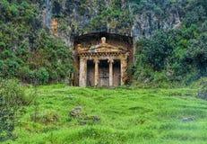 O túmulo de Amyntas, igualmente conhecido como o túmulo de Fethiye imagem de stock royalty free