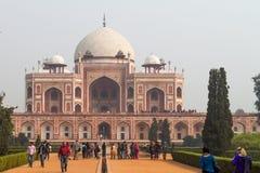 O túmulo de Humayun em Deli India Imagens de Stock Royalty Free
