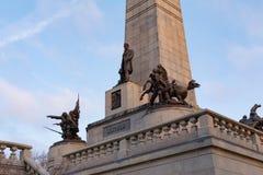 O túmulo de Lincoln em Springfield, Illinois imagens de stock royalty free