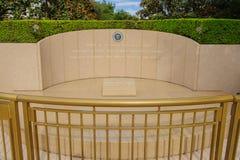 O túmulo de Ronald Regan, Simi Valley, CA Imagens de Stock
