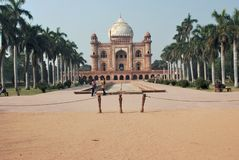 O túmulo de Safdarjung fotografia de stock royalty free