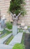 O túmulo do ator Ushangi Chkheidze Fotografia de Stock