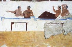 O túmulo do mergulhador é um monumento arqueológico do necropo Fotos de Stock Royalty Free