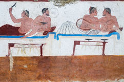 O túmulo do mergulhador é um monumento arqueológico do necropo Fotografia de Stock Royalty Free