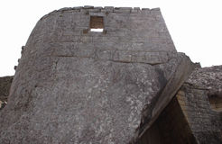 O túmulo real na cidade antiga de Machu Picchu imagem de stock