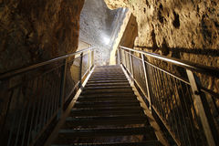 O túnel de Megiddo, as revelações dura a batalha Fotos de Stock Royalty Free