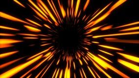 O túnel de néon da urdidura hyper rápida do sumário, movendo-se no espaço e no tempo, distorção do espaço, viajando no espaço, 3d ilustração stock
