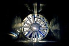 O túnel de vento fotos de stock