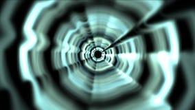 o túnel 4k de alta velocidade abstrato, circunda o canal leve, espaço 3d acústico do soundwave ilustração do vetor
