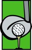 O T e o excitador da esfera de golfe batem a ilustração do vetor ilustração do vetor