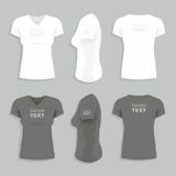 O t-shirt das mulheres ilustração do vetor