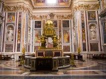 O tabernáculo em Santa Maria Maggiore Basilica em Roma Itália Imagens de Stock Royalty Free