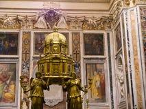 O tabernáculo em Santa Maria Maggiore Basilica em Roma Itália Fotografia de Stock Royalty Free