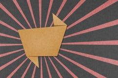 O Tag da conversa recicl o ofício de papel para faz a vara da nota Imagens de Stock Royalty Free