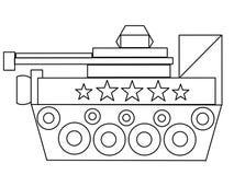 O tanque caçoa a página de alta qualidade da coloração ilustração do vetor
