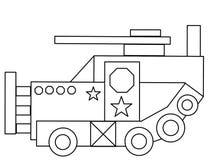 O tanque caçoa a página de alta qualidade da coloração ilustração royalty free